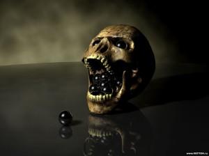 Skull eating ?? or Vomitting ??