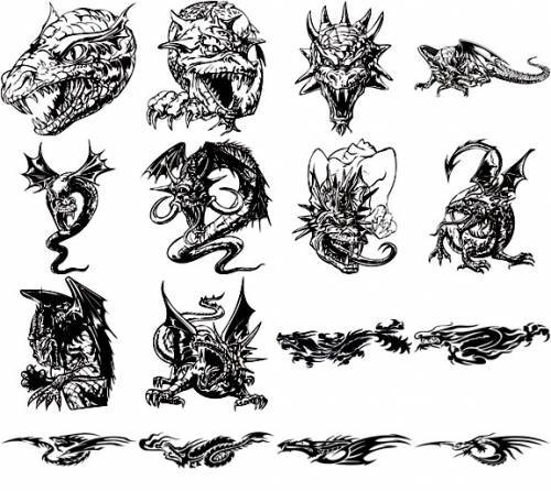 Dragon Tattoo Designs ECCENTRIC TATTOO DRAGON DESIGN